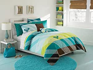 "ROXY ""Summer Daze"" 10 Piece Queen Comforter Set Includes Sheet Set Bed In a Bag"