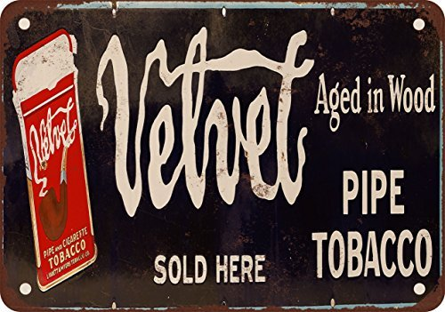 Velvet Pipe Tobacco Vintage Look Reproduction Metal Tin Sign 12X18 Inches