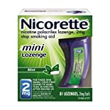 Nicorette Stop Smoking Aid, 2 mg, Mini Lozenge, Mint, 81 ct.
