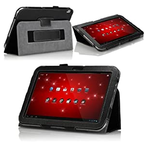 MoKo Folding Cover Case with Stand for Toshiba Excite 10 AT305 10.1-Inch Android Tablet, Black