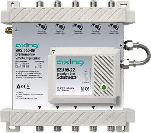 Amplificateur pour SPU 55XX-09 5 entrées /5 sorties Axing (Import Allemagne)