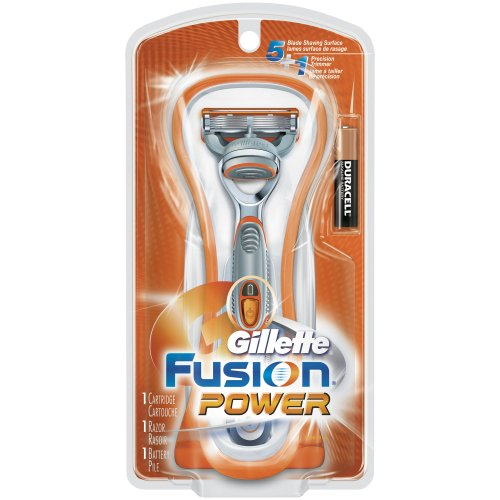 Gillette Fusion Power Razor With 1 Razor Blade Refill And 1 Battery for Men