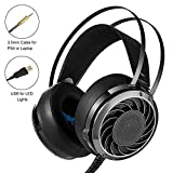 Mictchz Stereo Gaming Headset, M160 3.5 mm Over Ear Computer Headphone with Mic for Laptop/Mac/PS4/IPad/IPod/Phones/PC