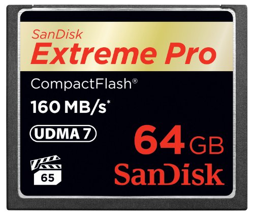 Sandisk Extreme Pro 64Gb Compact Flash Memory Card Udma 7 Speed Up To 160Mb/S- Sdcfxps-064G-X46 (Label May Change)