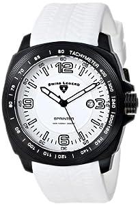 Swiss Legend Men's 21045-BB-02 Sprinter Analog Display Swiss Quartz White Watch