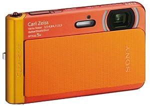 Sony DSCT-X30D Appareil Photo Numérique Full HD Etanche 18 Mpix Zoom optique: 5x Orange