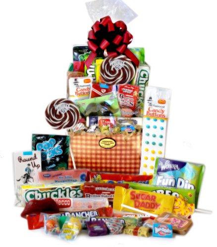 Gingham Retro Candy Gift Basket