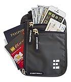 Zero Grid Neck Wallet w/RFID Blocking ★ 2 in 1 Travel Wallet & Hidden Pocket