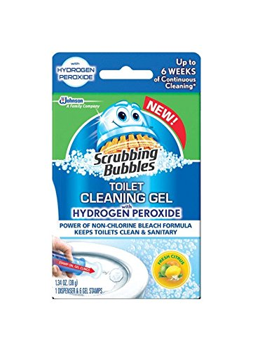 (3 Pack) Scrubbing Bubbles Toilet Cleaner with Hydrogen Peroxide, Cleaning Gel, Fresh Citrus, 1.34 Oz. (Cleaning With Hydrogen Peroxide compare prices)