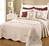 Pike Street Fall Garden Quilted King Bedspread