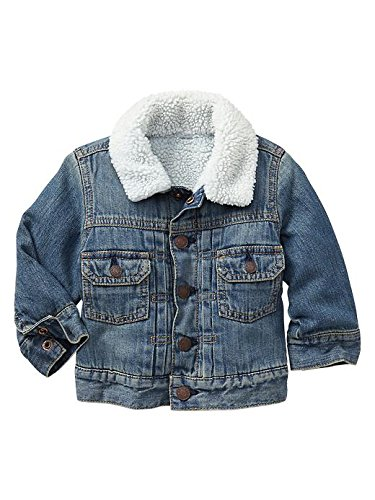 Gap Baby Sherpa Lined Denim Jacket Size 0-6 M front-898243