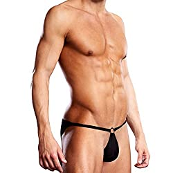 Blueline: Performance Microfiber Pouch Bikini With Metal Ring - L/XL