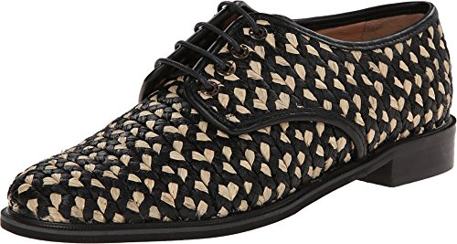 pictures of Robert Clergerie Women's Jupa #982# Blks Rafia Oxford 39.5 (US Women's 9) M