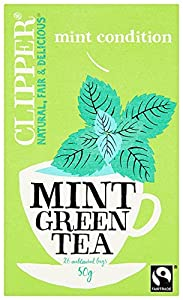 Clipper Green Tea with Peppermint 25 Teabags (Pack of 6, Total 150 Teabags)
