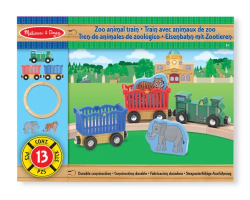 Melissa & Doug Zoo Animal Train Set - 1