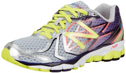 888098226782 - New Balance Women's W1080 Cushion Running Shoe,Silver/Purple,12 D US carousel main 0