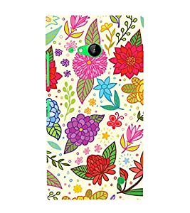 Clipart Floral Design 3D Hard Polycarbonate Designer Back Case Cover for Nokia Lumia 730 :: Microsoft Lumia 730 :: Microsoft Lumia 735