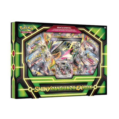 Coffret Pokemon SHINY RAYQUAZA EX Collection Box (4 boosters + promos)