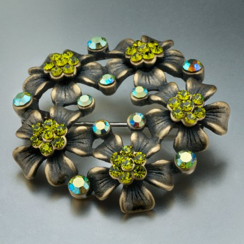 August Birthstone Flowers Dazzle Brooch Gifts