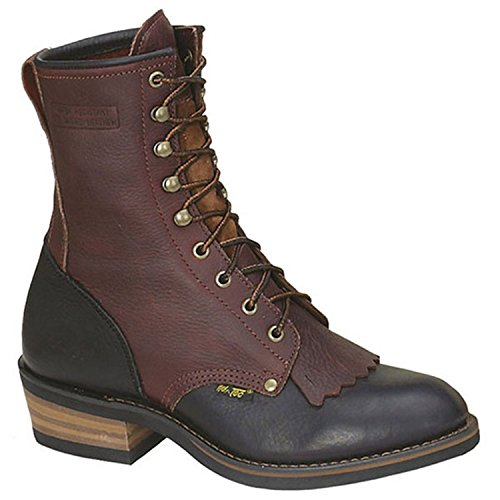 AdTec Mens Chestnut/Black 9in Packer Soft Toe Leather Work B