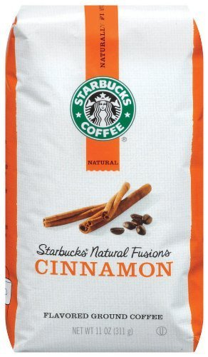4x Starbucks Natural Fusions Ground Coffee, Cinnamon