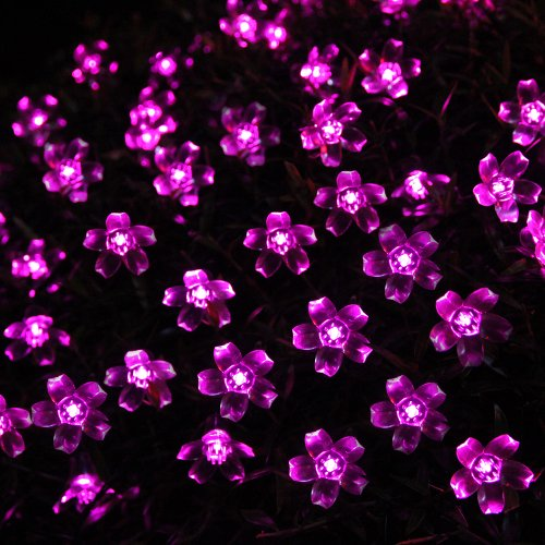 Pink Indoor String Lights : InnooTech Solar Powered Led String Lights Outdoor Indoor Fairy Blossom 50 Pink eBay