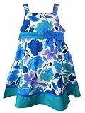 Good Lad Toddler Girls Purple Teal Floral Dress