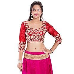 TAM CREATIO Women's Wedding Wear Full embroidered Silk Cotton Blouse Fabric