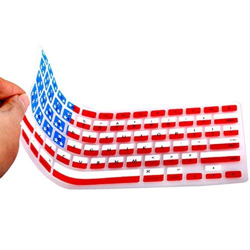 Coromose Silicone Rubber Keyboard Skin for Macbook & Macbook Pro (American Flag)