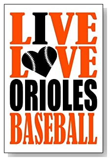 Live Love I Heart Orioles Baseball lined journal - any occasion gift idea for Baltimore Orioles fans from WriteDrawDesign.com