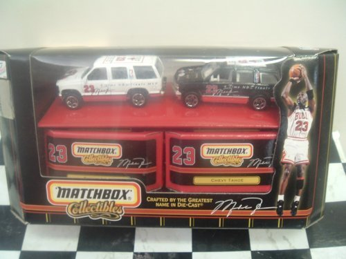 Michael Jordan Chicago Bulls Diecast 2 Tahoe Set NBA 6-Time Finals MVP with Display Boxes (Chicago Bulls Display Case compare prices)