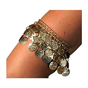 Armband, Gold Color Coins