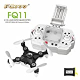RealAcc FQ777 FQ11 With Foldable Arm 3D Mini 2.4G 4CH 6 Axis Headless Mode RC Quadcopter RTF (Black)
