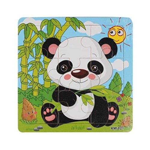 jeux éducatifs,Xinan Bois Panda Jigsaw jouets pour les enfants