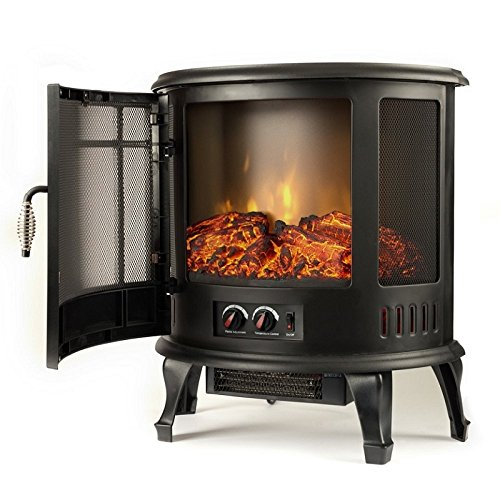 torino curved electric fireplace free standing portable