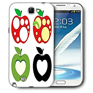 Snoogg Colorful Apples Printed Protective Phone Back Case Cover For Samsung Galaxy Note 2 / Note II