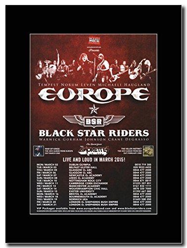 Europa e Black Star Riders-Tour del Regno Unito 2015Magazine Promo su un nero Mount