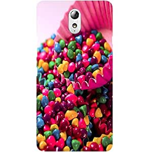 Casotec Colourful Candy Design Hard Back Case Cover for Lenovo Vibe P1M
