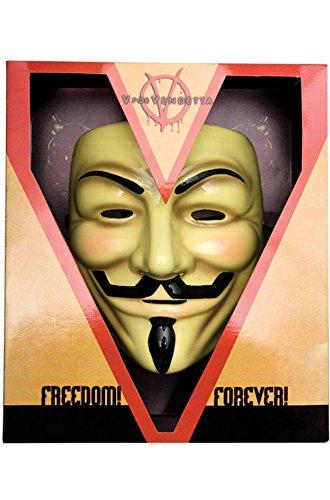 Mememall Fashion Official License V for Vendetta Deluxe Adult Mask (V For Vendetta Mask Deluxe)