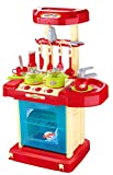Light And Sound Kids Pretend Play Cooking Kitchen Set With Pots Pans Play Food