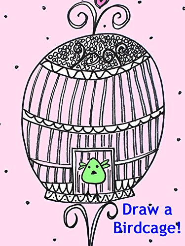 Drawing for Kids: How to Draw a Fancy French Birdcage