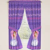 Disney Junior Sofia the First Princess Drapes Panels Curtains, Set of 2 (42 x 63)