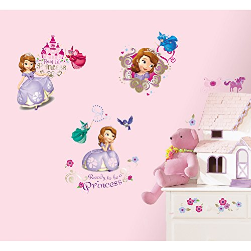 RoomMates RMK2294SCS Sofia The First Peel and Stick Wall Decals - 1