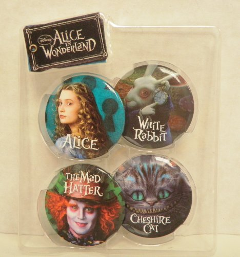 Disney 4 Pack Pin Set - Alice, Mad Hatter, White Rabbit, and Cheshire Cat - 1
