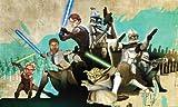 RoomMates JL1215M Star Wars: the Clone Wars Prepasted Chair Rail Wall Mural