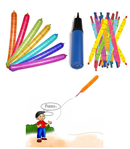 100-Giant-Flying-Rocket-Balloons-Pump-Set-For-Kids-Party-Favors-Gifts