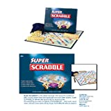 New Super Wooden Scrabble Board Crossword Game Puzzle