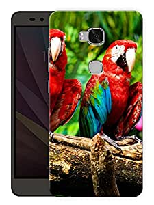"""Humor Gang Exotic Birds Parrot Printed Designer Mobile Back Cover For """"Huawei Honor 5X"""" (3D, Matte, Premium Quality Snap On Case)"""