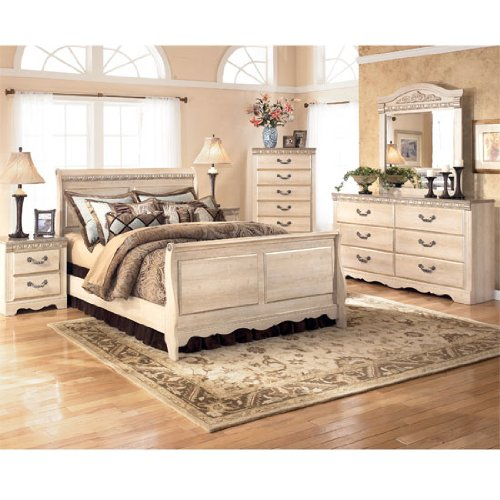 cheap silverglade sleigh bedroom set queen by signature design