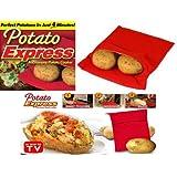 JACKET POTATO EXPRESS MICROWAVE COOKER BAG 4 MINUTES FAST REUSABLE WASHABLE COOK